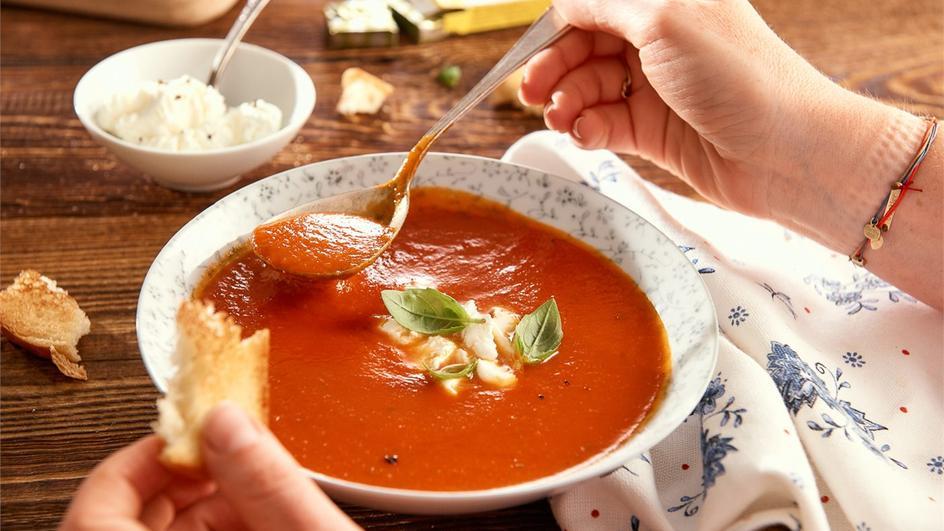 Zupa - krem pomidorowy z bazylią
