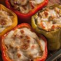 Stuffed Bell Pepper with Chicken and Mushrooms