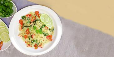 Greek styles spinach and Cherry Tomato Rice