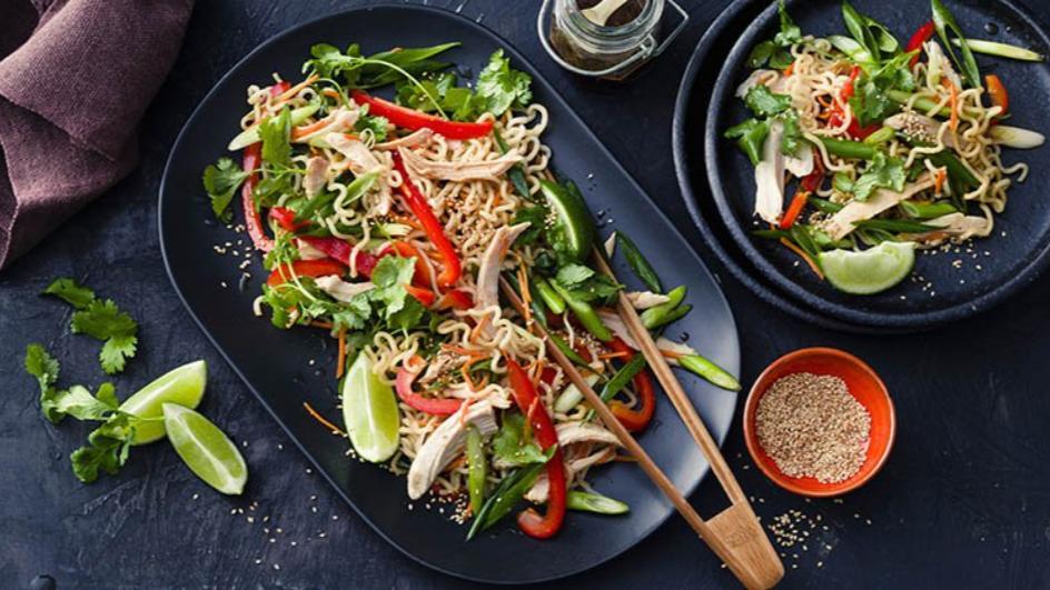 Spicy Chicken Noodle Salad