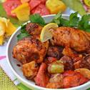 Сочно пиле барбекю със зеленчуци