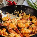 Prawns in Salted Egg Butter Sauce