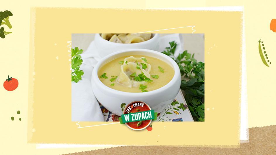 Zupa z żółtej brukwi z uszkami z gęsiną