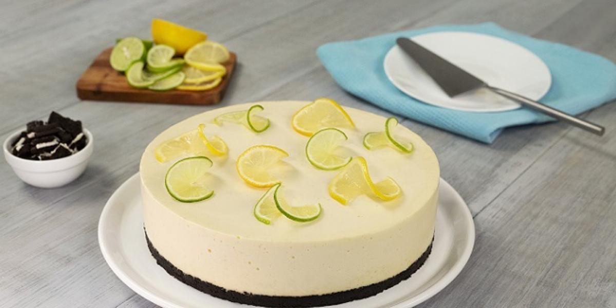 Cheesecake de limón con chocolate