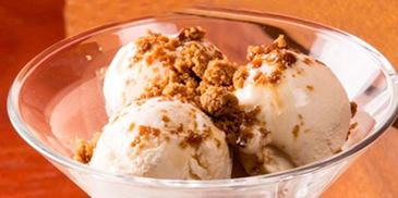 Coconut Ice Cream with Grated Jaggery