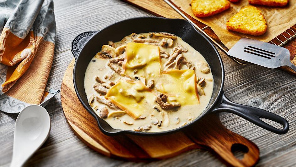 Käse-Geschnetzeltes Raclette