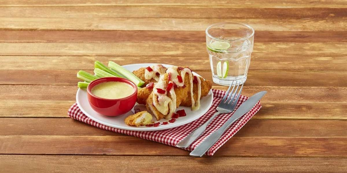 Tenders de pollo con salsa de mostaza y miel