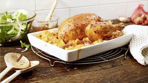 Kürbis-Hähnchen aus dem Ofen
