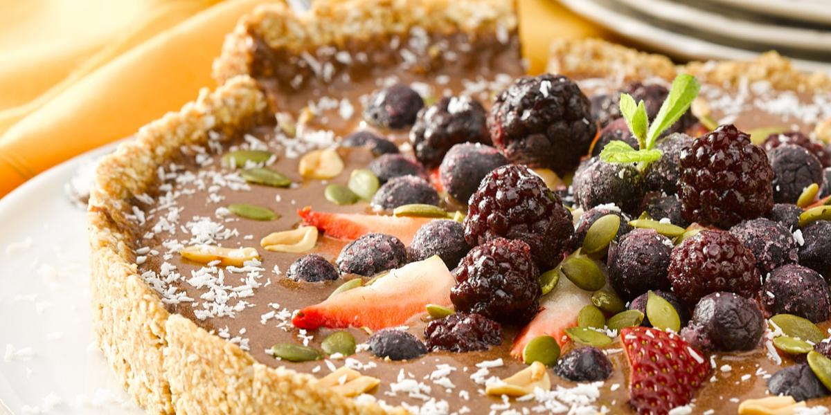 Tarta de Chocolate y Berries sin Horno