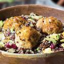 Juicy Chicken Meatballs and Tropical Quinoa Salad
