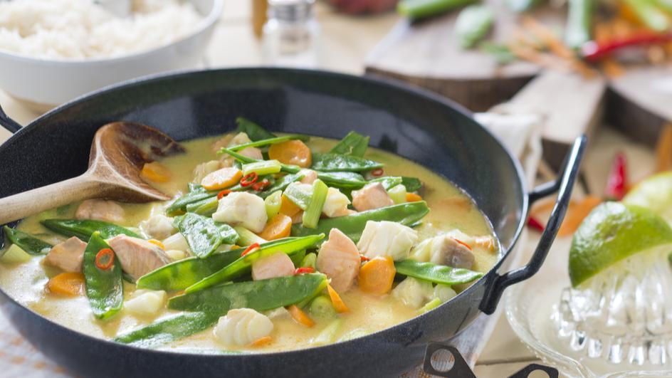 Buntes Fisch-Curry