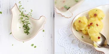 Zupa chrzanowa z jajkiem i prażuchami