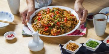 Fried Longevity Noodle With Seafood