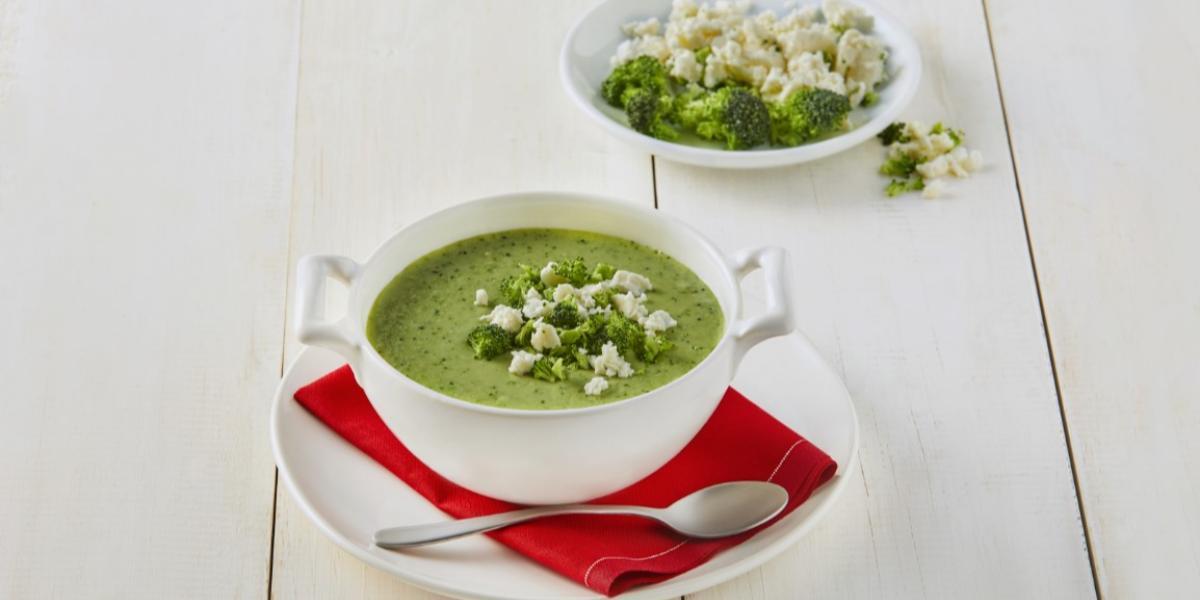Crema de brócoli con curry