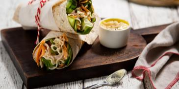 Creamy Chicken Noodle Wraps