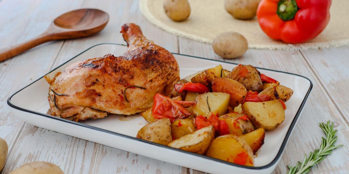 Pollo Sentado al horno
