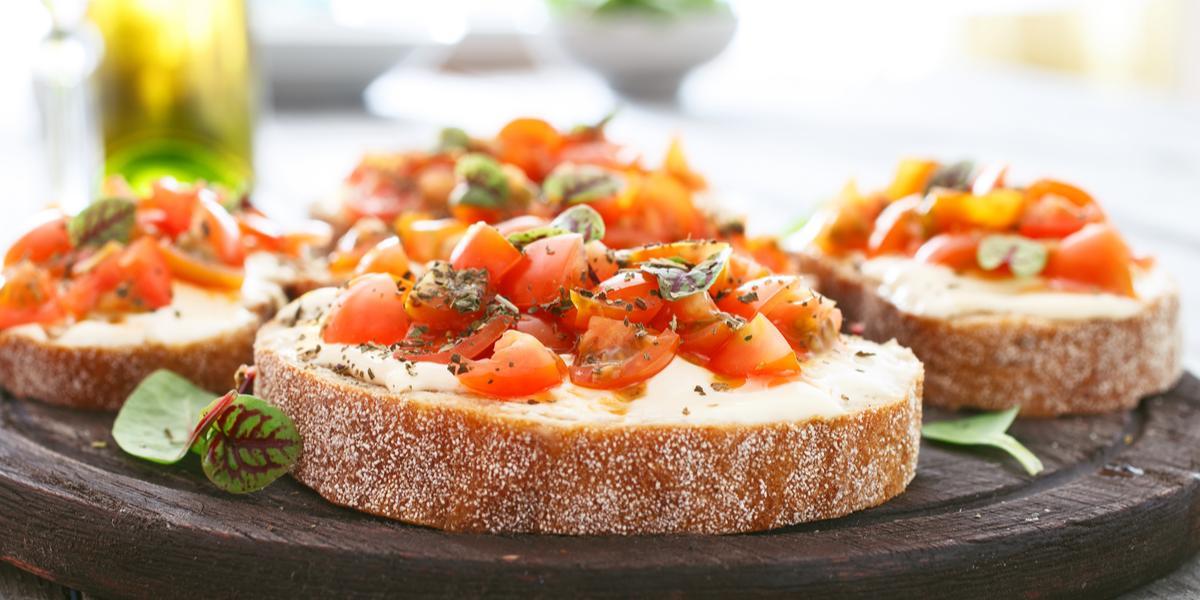 Pan con Tomate Gratinado