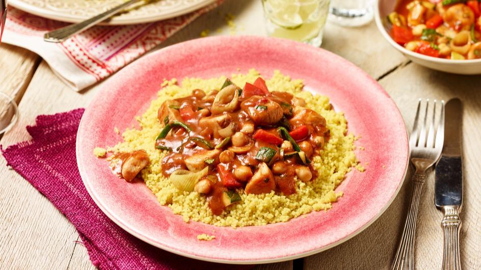 Couscous mit Hähnchenragout
