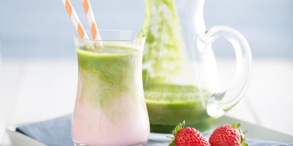 smoothie-morango-suco-verde-zero-lactose