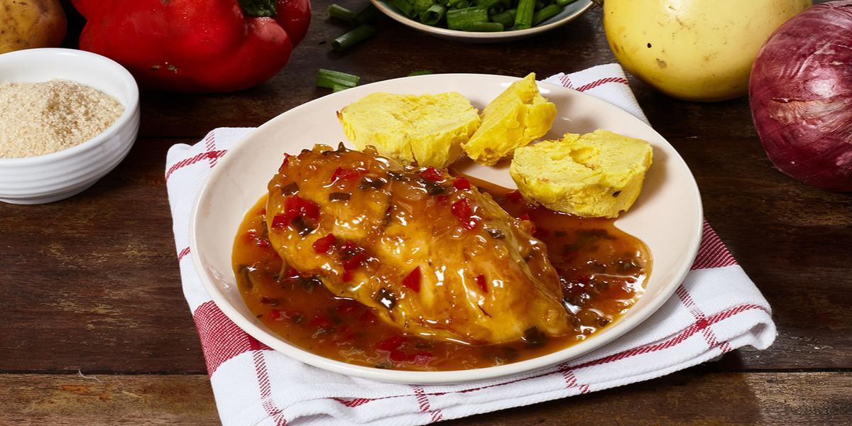 Pollo en Salsa de Maracuyá