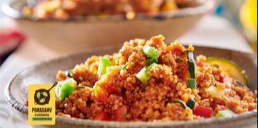 Kasza kuskus z pikantnym sosem warzywnym