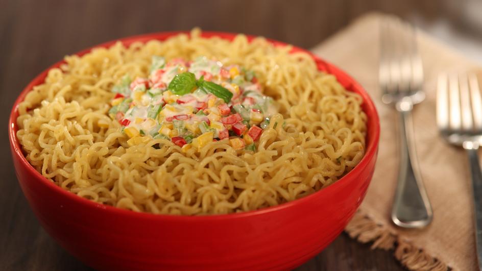 Creamy and Cheesy Italiano MAGGI Noodles Recipe