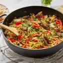 Chili noodles cu vita