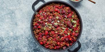 Roasted Beetroot and Lentil Salad