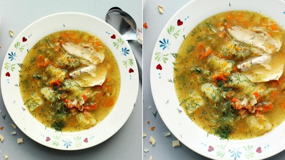 Zupa ogórkowa na udkach
