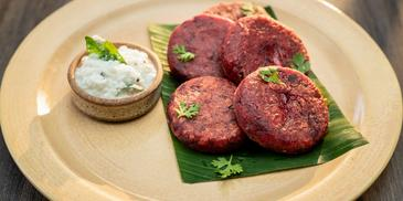 Beetroot Poriyal Tikki Recipe