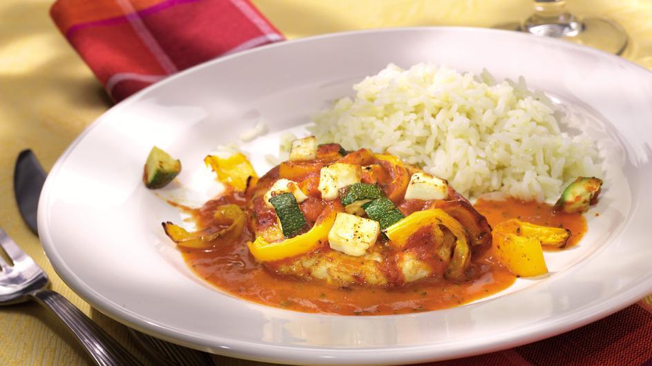 Paprika-Schnitzel mit Feta