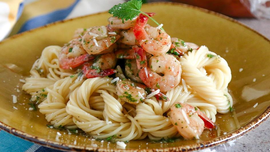 Shrimp Scampi Linguini