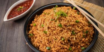 Schezwan Chicken Fried Rice Recipe