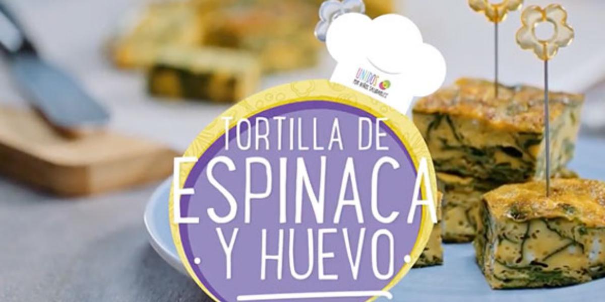 TORTILLA DE ESPINACA Y HUEVO