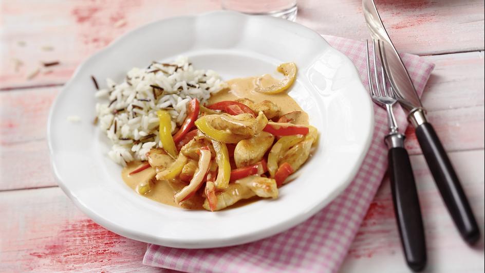 Rahmhähnchen-Paprika-Pfanne