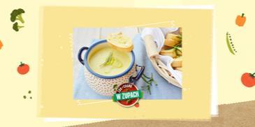 Zupa z pora z grzankami czosnkowymi
