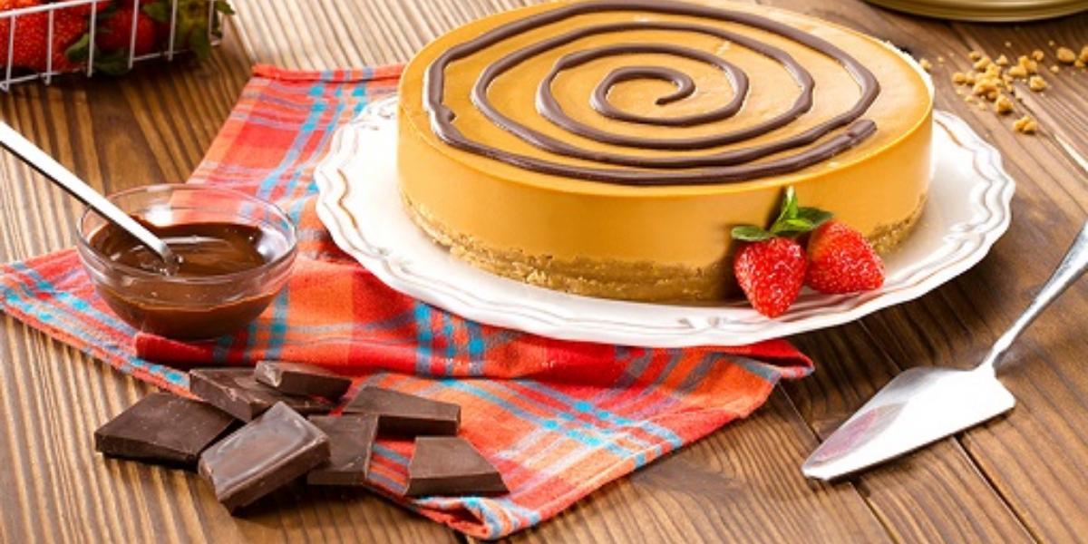 Cheesecake frío de dulce de leche