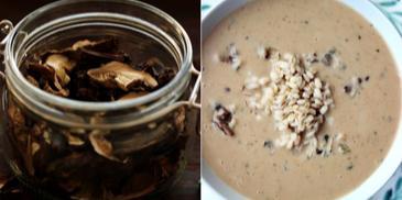 Zupa grzybowa na Wigilię z kaszą i suszoną żurawiną