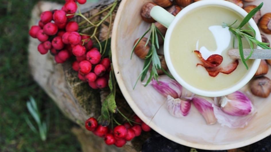 Zupa ziemniaczana z pieczonych ziemniaków