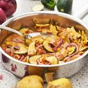 Zucchini-Fleischwurst-Pfanne