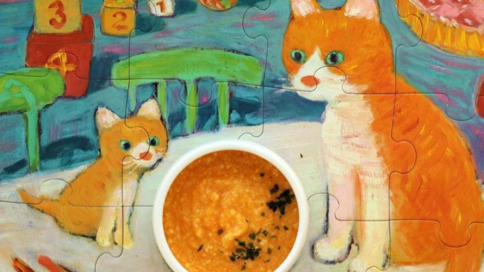 Zupa marchewkowa z soczewicą i kaszą jaglaną
