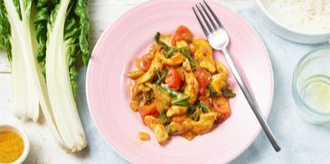 Mangold Curry Hähnchen