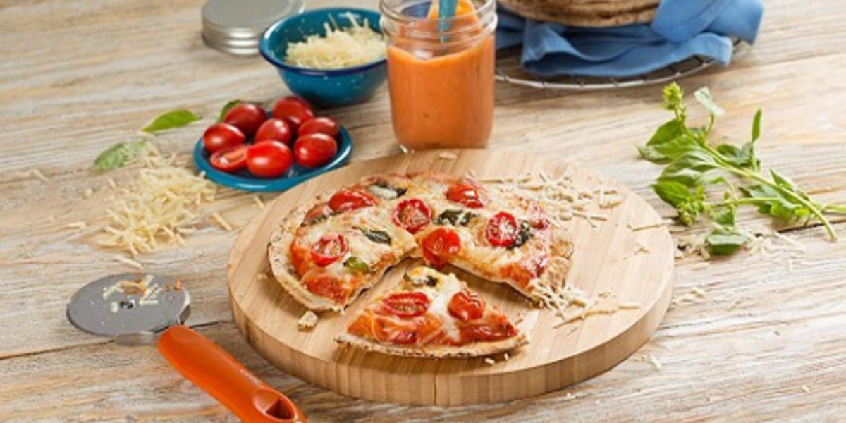 Pizza estilo margarita