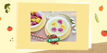 Zupa dla dzieci – jarzynowa z kolorowymi uszkami