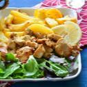 Görögös-citromos csirkefalatok