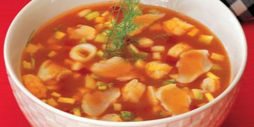 Seafood Minestrone Soup