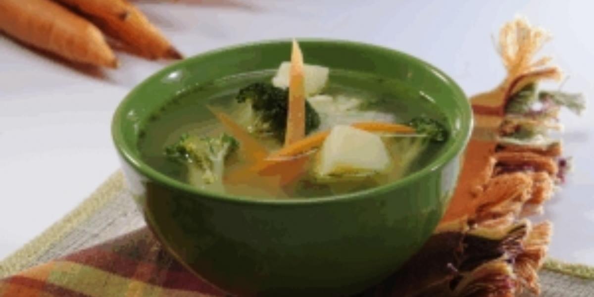 Sopa deliciosa de arroz