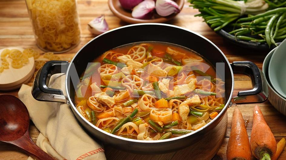 Pasta peppersoup for kids