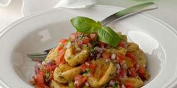 Herb Gnocchi with Tomato Salsa