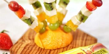 Budyniowe - owocowe koreczki